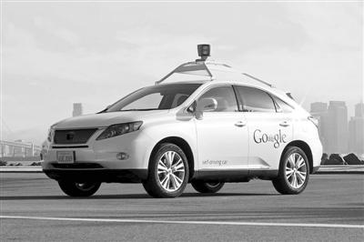谷歌公司的无人驾驶汽车高清图片